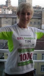 Predsednica ,,ILCO,, Srbije Snežana Cmiljanić-Milojević trčala je u  trci zadovoljstva - 5 km