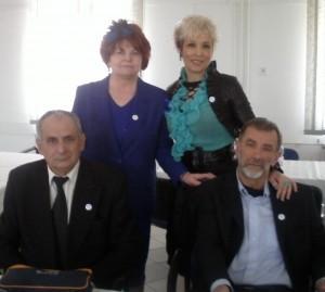 Snezana i Dragan Trivun sa nasim domacinom g-djom  Kovacs Marika predsednik udruzenja,,ILCO,,Nyiregyhaza Magyarfalvi  Imre  predsednik udruženja ILCO u Dorogu.