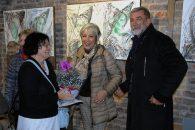 Dugogodisnja prijateljica Udruyenja ILCO Srbije akademski slikar Snezana Bekric ,Snezana S Milojevic i Dragan Trivun