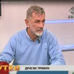 Dragan Trivun na tv studiju B