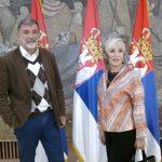Snezana S. Milojevic i Dragan Trivun u Palati Srbija